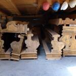 Lavice v kostele sv. Ludmily